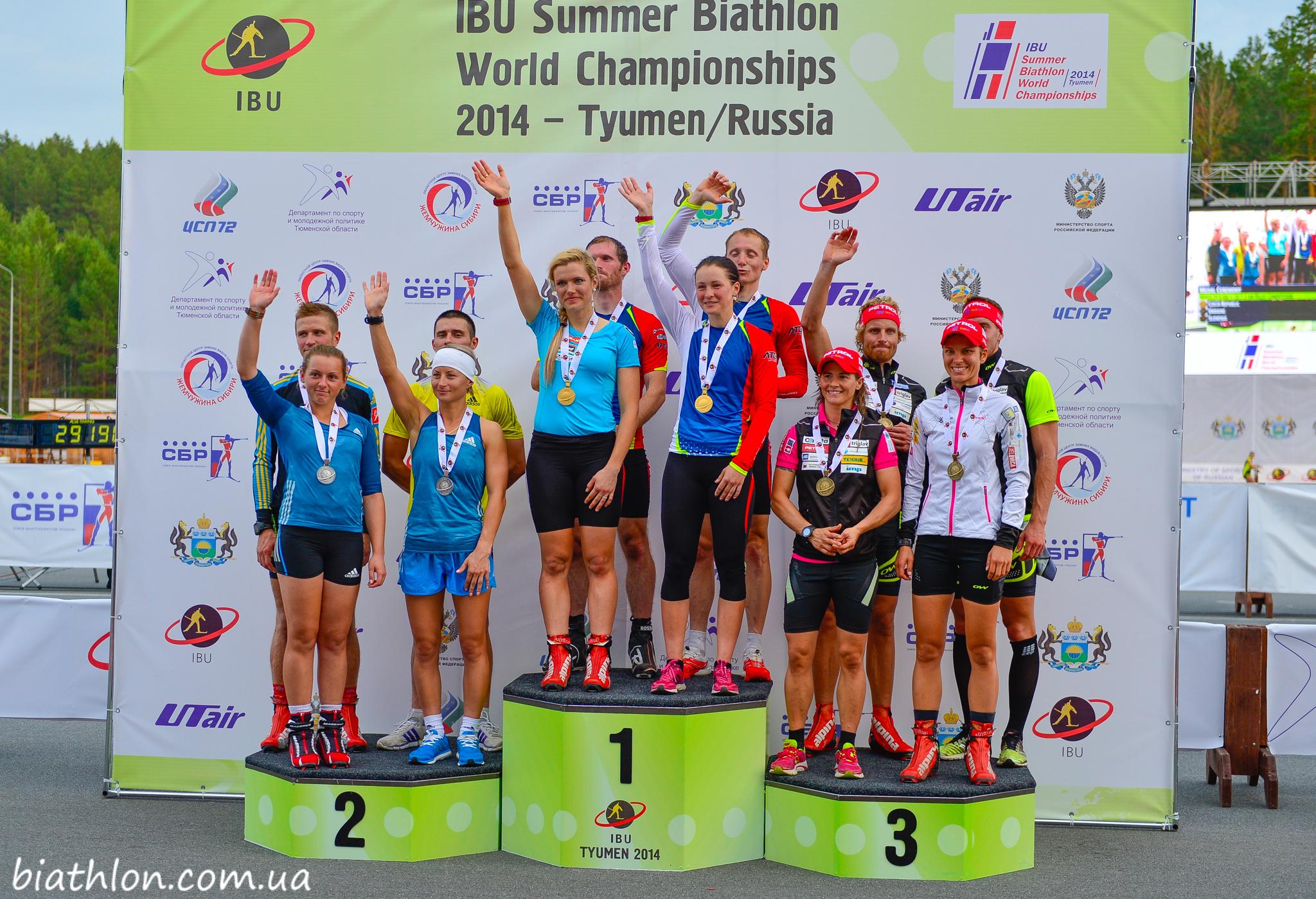 Вітаємо призерів змішаної естафетної гонки літнього чемпіонату світу з біатлону