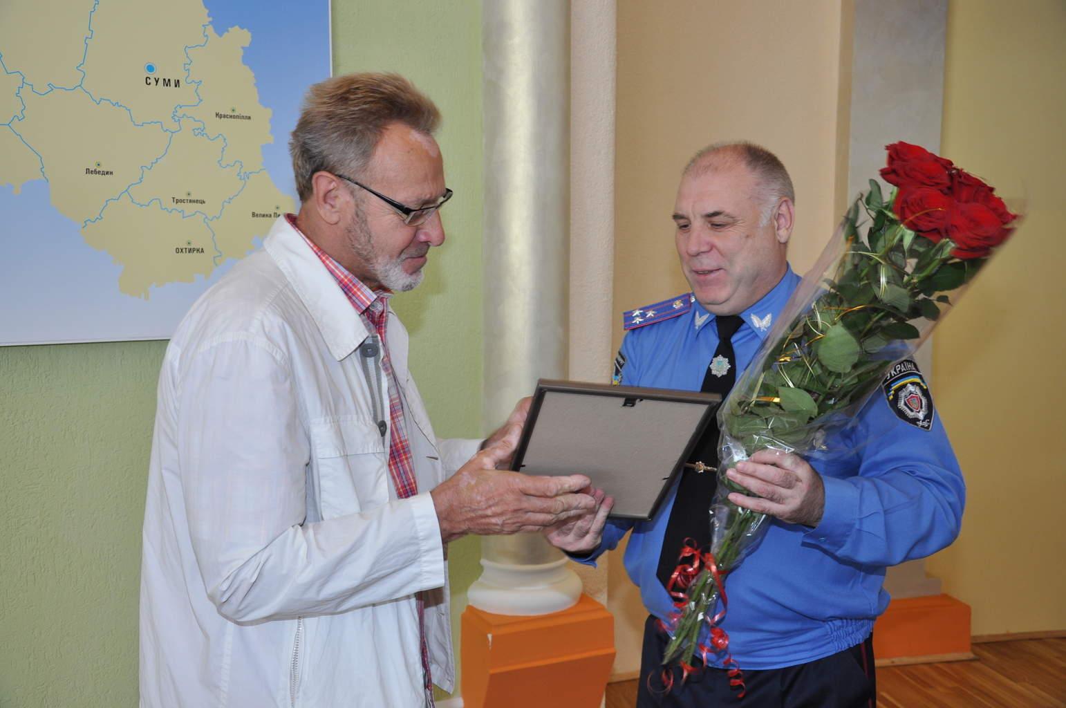 Почесний громадянин м. Суми Олександр Шапаренко був нагороджений Почесною грамотою