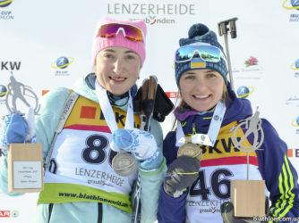 Ольга Абрамова та Юлія Журавок стали призерами етапу Кубку IBU